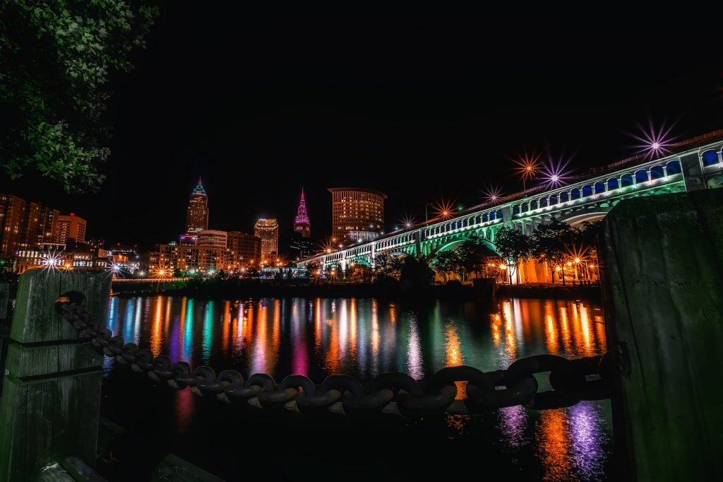 Cityscape at Night in Cleveland | Veteran Car Donations