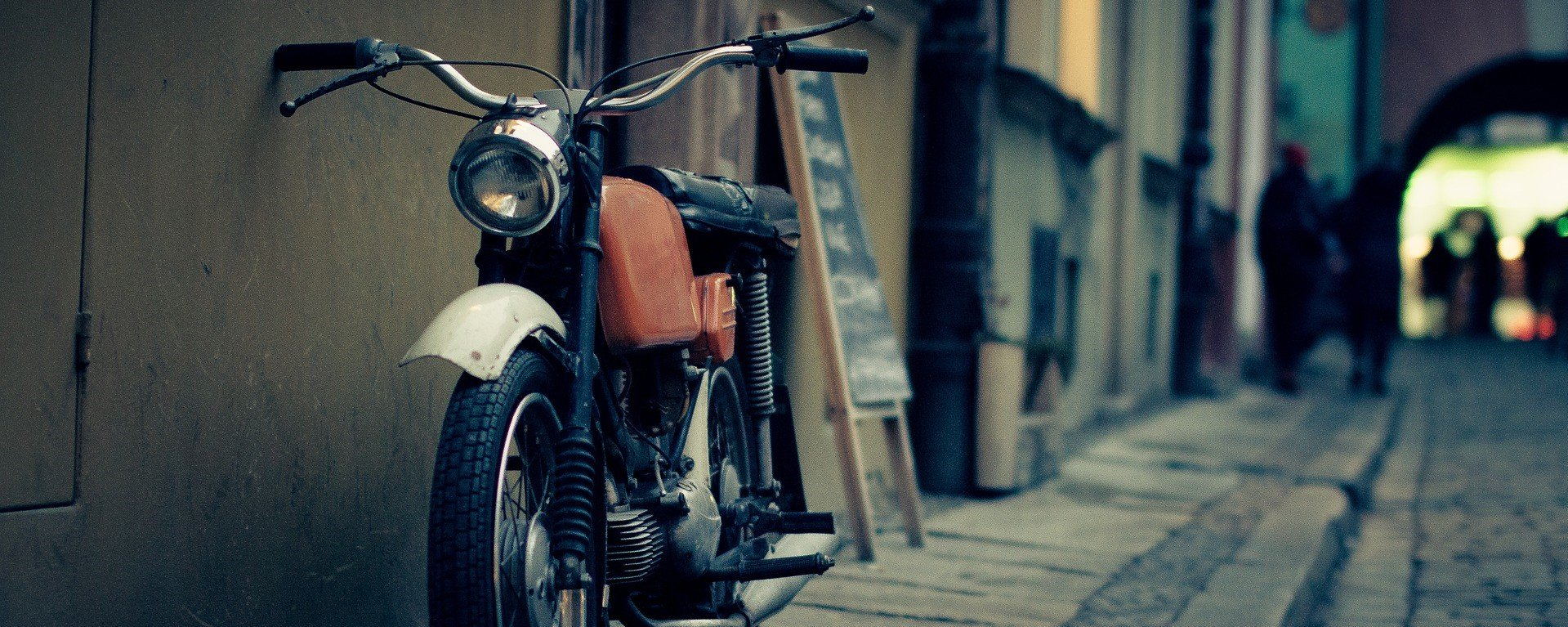Motorcycle on the Street | Veteran Car Donations