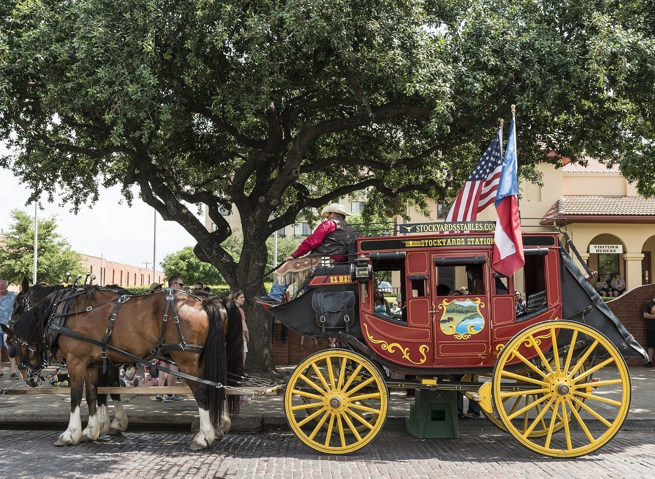 Stagecoach in Fort Worth Texas - VeteranCarDonations.org