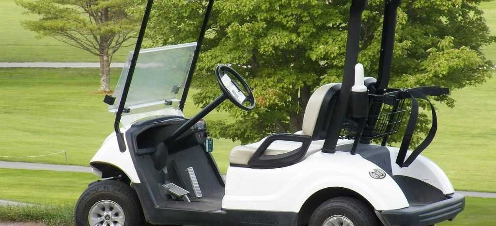 Parked Golf Cart | Veteran Car Donations