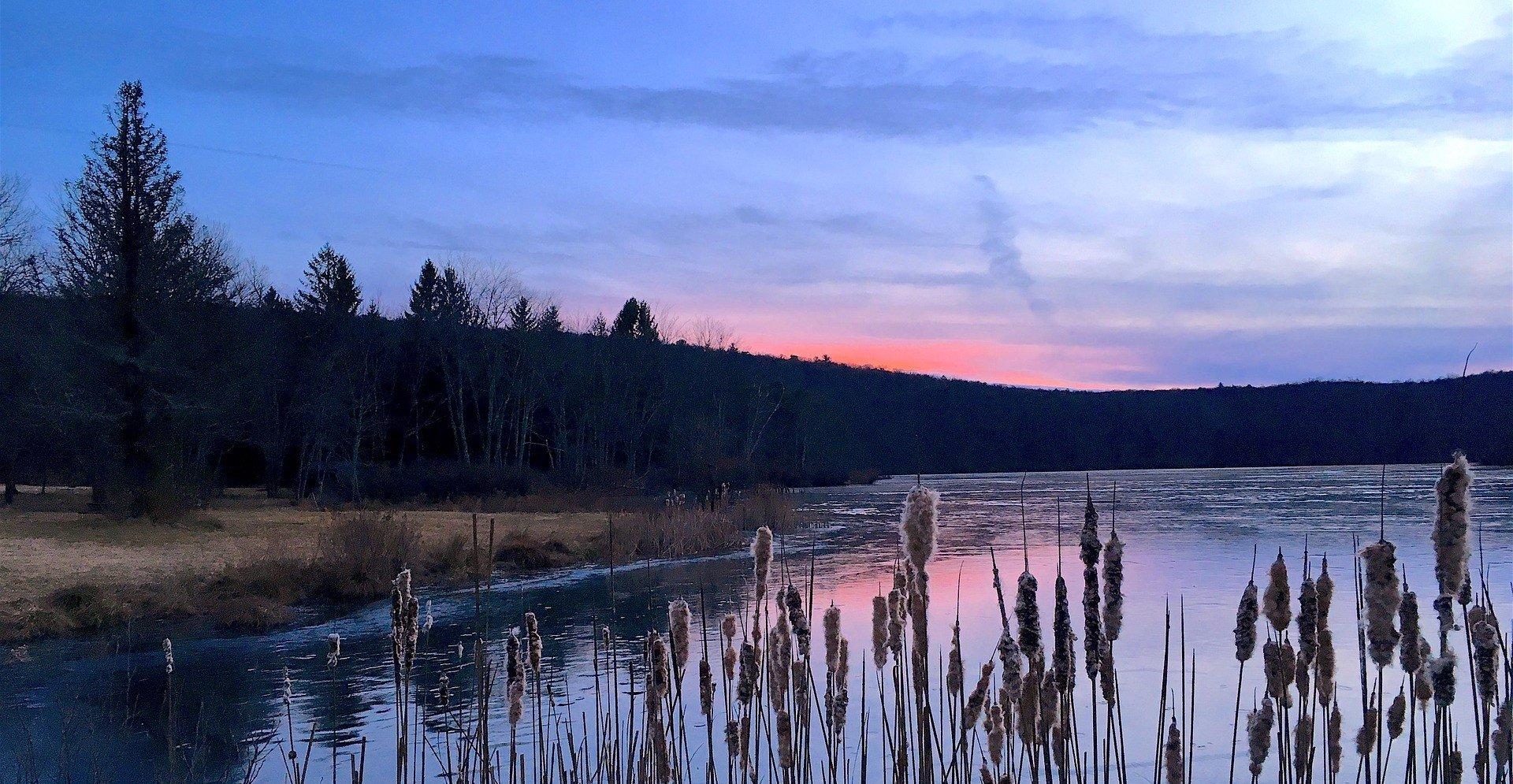 Sunset in Medford Lakes, New Jersey - VeteranCarDonations.org