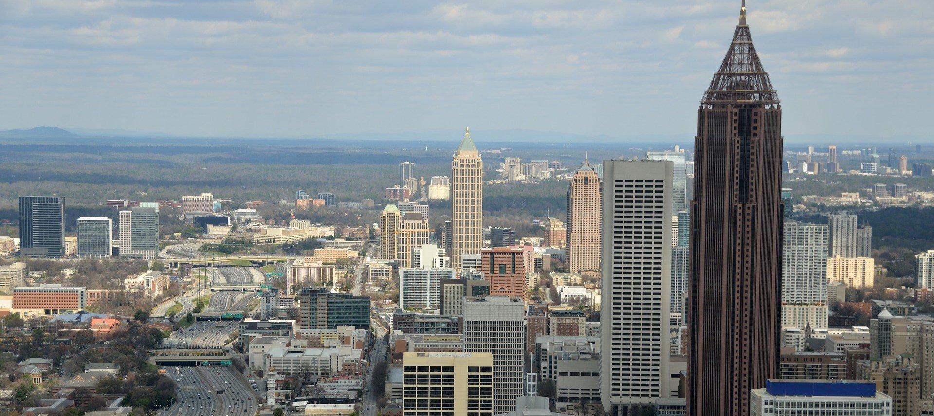 Aerial View of Downtown Atlanta - VeteranCarDonations.org