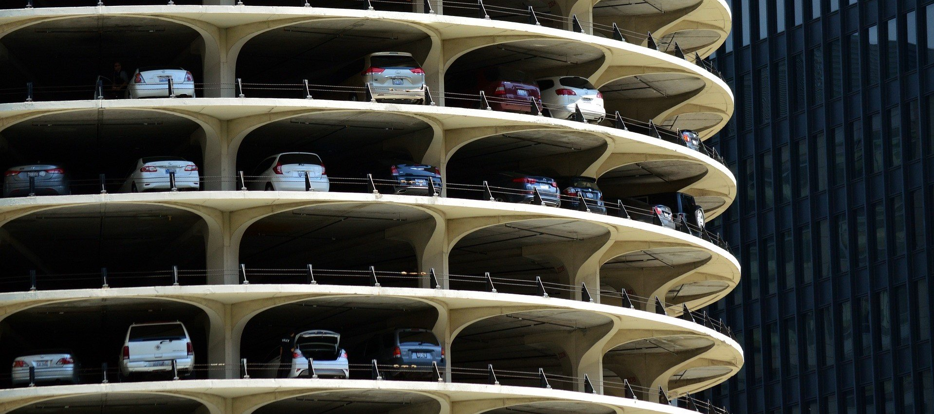 Parking Garage at Marina City Illinois - VeteranCarDonation.org