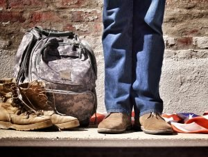 Military Man and His Backpack - VeteranCarDonations.org