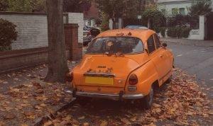 Orange Oldtimer Car in Portland, Oregon - VeteranCarDonations.org