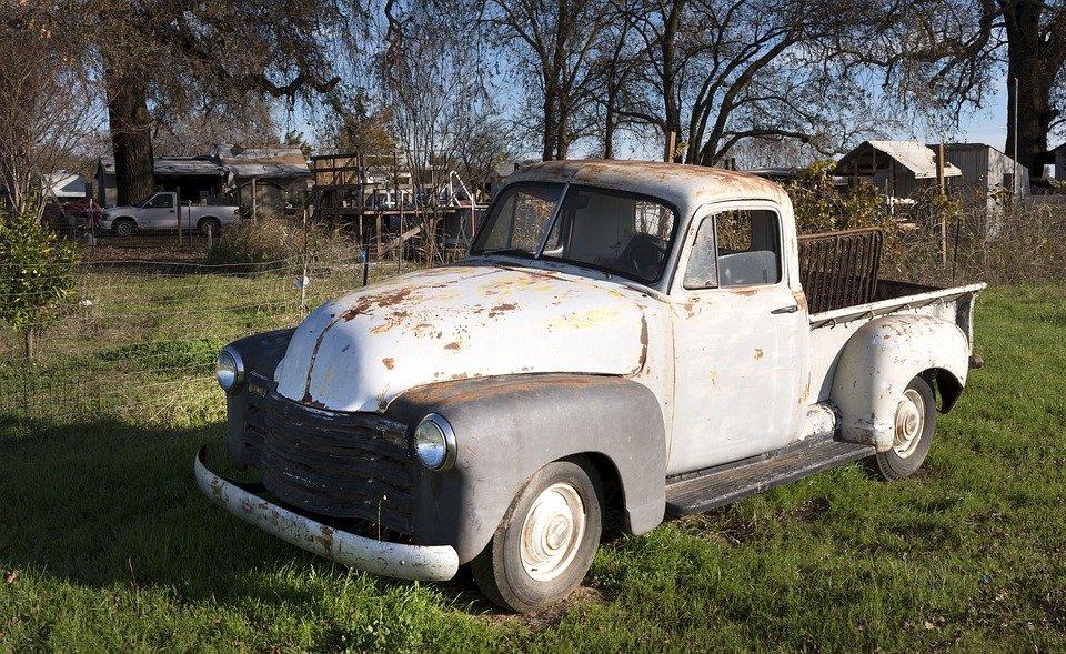 Rusty Oldtimer Truck on a Yard - VeteranCarDonations.org
