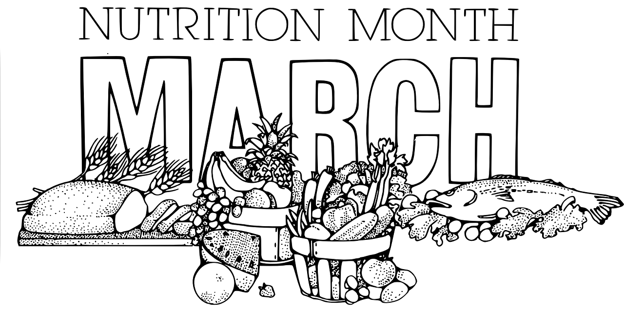 Nutrition Month Vector Art - VeteranCarDonations.org