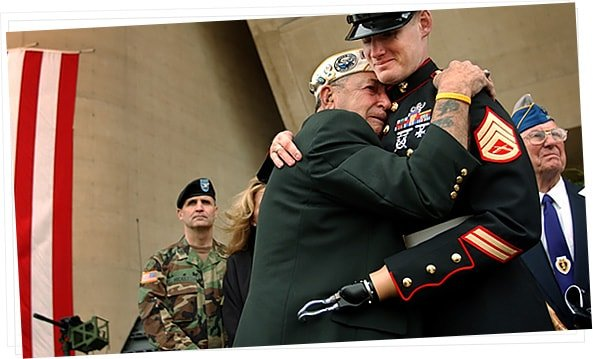 Veteran Hugging