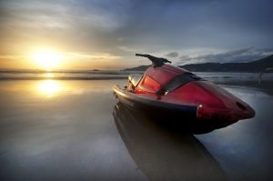 Jet Ski under the Sunset | Veteran Car Donations