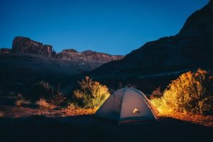 Tent Camping at Night Outdoors | Veteran Car Donations