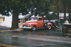 Red Vintage Pickup Truck | Veteran Car Donations